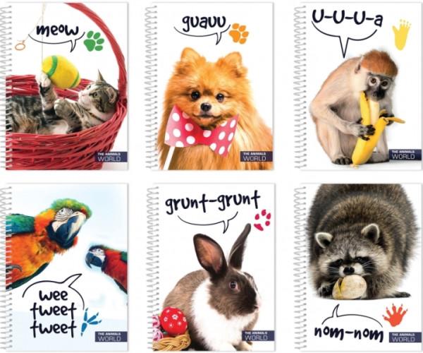Блокнот «В мире животных» А5, обложка – полноцветная, пластик, 80 л., Ассорти Economix(E20318-99)