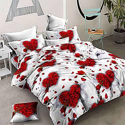 Комплект двуспального постельного белья Роза сердце