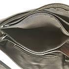 Мужская сумка из натуральной кожи с клапаном, малая, фото 6