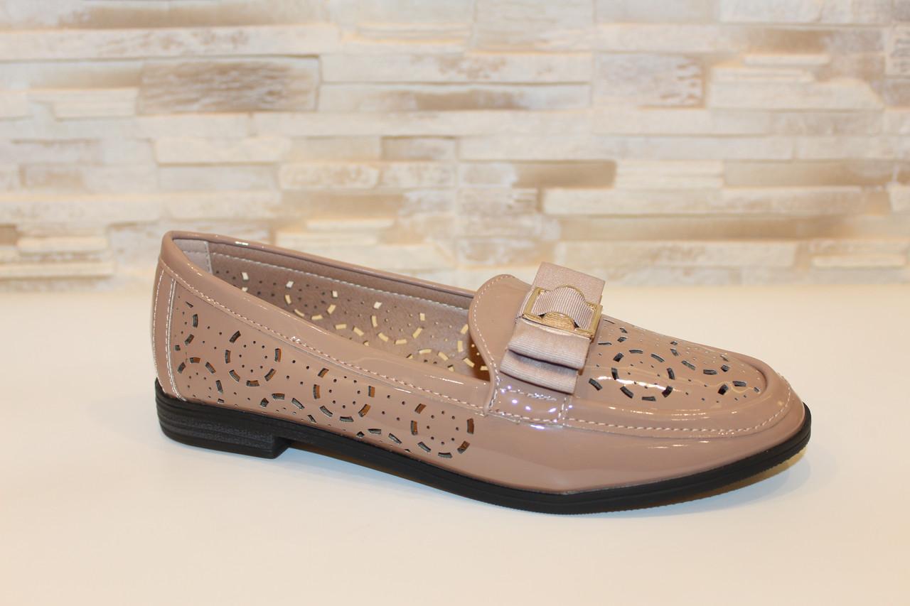 Туфли женские бежевые Т1102