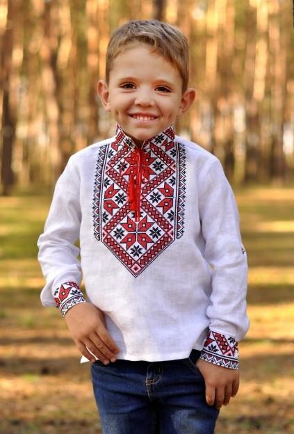 Вышиванка льняная для мальчика