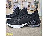 Кроссовки 40 размер  аирмакс текстильные на амортизаторах компенсаторах черные К2244, фото 2