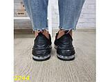 Кроссовки 40 размер  аирмакс текстильные на амортизаторах компенсаторах черные К2244, фото 9