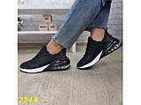 Кроссовки 40 размер  аирмакс текстильные на амортизаторах компенсаторах черные К2244, фото 8
