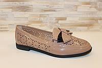 Туфли женские бежевые Т1103