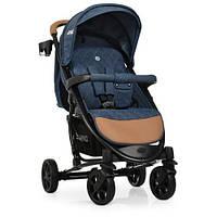 Прогулочная детская коляска  ME 1011L ZETA DENIM BLUE Синяя