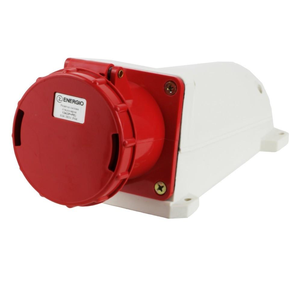 Розетка силова стаціонарна ENERGIO 134 (3P+PE) 63A 380V IP44