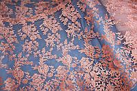 Цвет персик.Ткань сетка  №308, фото 1