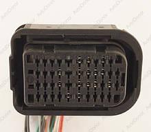 Разъем автомобильный 42-pin/контактный. Мама. 48×28 mm. Б.У
