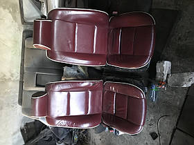 Передние сидения бмв е39 красная кожа