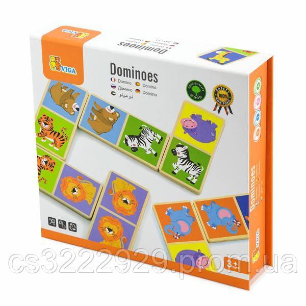Настольная игра Viga Toys Домино со зверятами (51307)