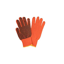 Рукавички х/б 10 кл. помаранчеві