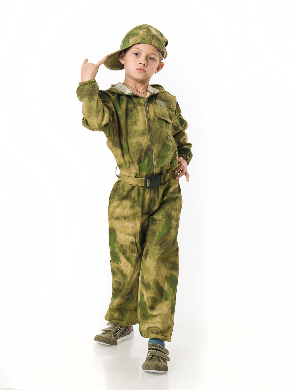 Комбинезон детский Пейнтбол для мальчиков камуфляж A-TACS рост 140 см