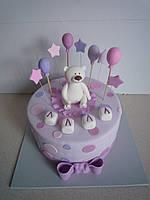 """Детские торты на заказ """"Торт с мишкой"""""""