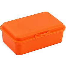 Набір ланч-бокс (контейнер для їжі) ECONOMIX SNACK 750 мл, помаранчевий + серія наліпок Дикі Пташки