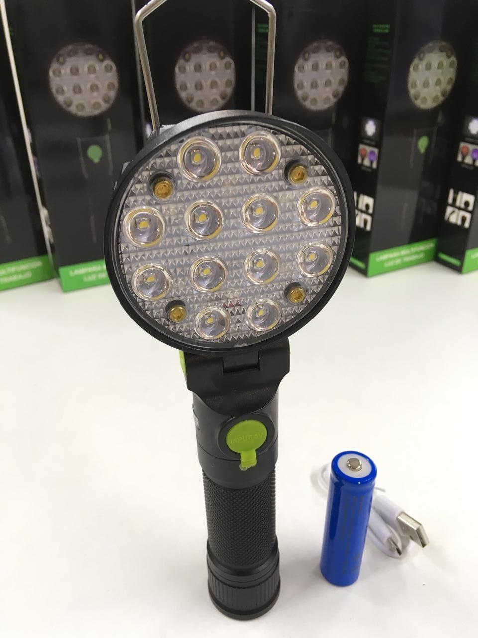 Лампа на магніті акумуляторна 16 LED 3 режими + RGB BLX3