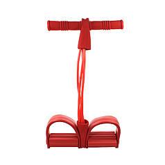 Еспандер для преса і рук Lianjia Red 4 трубки багатофункціональний з ручками