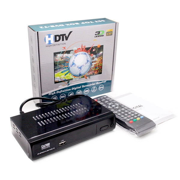Цифровой эфирный тюнер Set Top DVB-T2 металлический корпус Wi Fi, HDTV