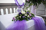 Свадебная подушечка для обручальных колец сердце из роз сиреневая белая LA BEAUTY Studio люкс, фото 5