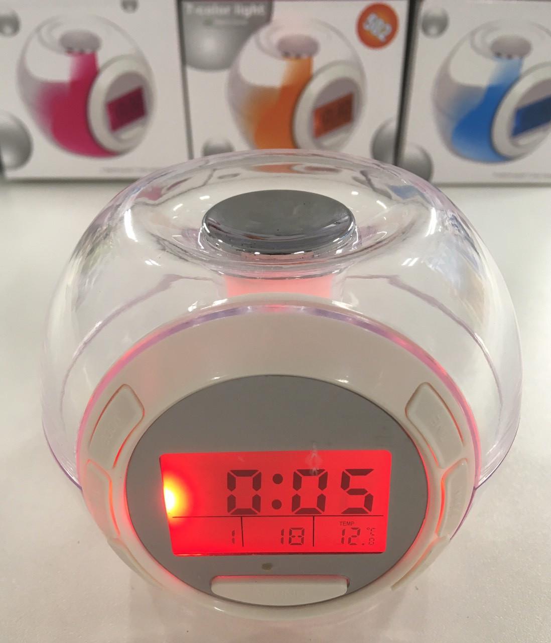 Светящиеся часы будильник Хамелеон 7 color light 502 с RGB подсветкой (AMC)