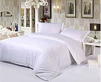 Комплект постельного белья Бязь белая в полоску, бязь Двуспальный