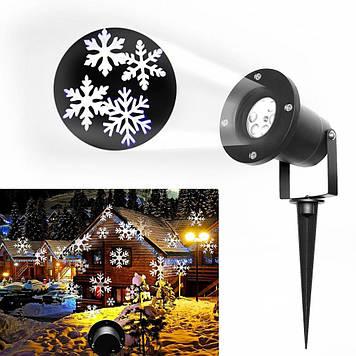 Лазерный проектор Star Shover СНЕГ Snowflake №608 ZP3лазерная подсветка для дома
