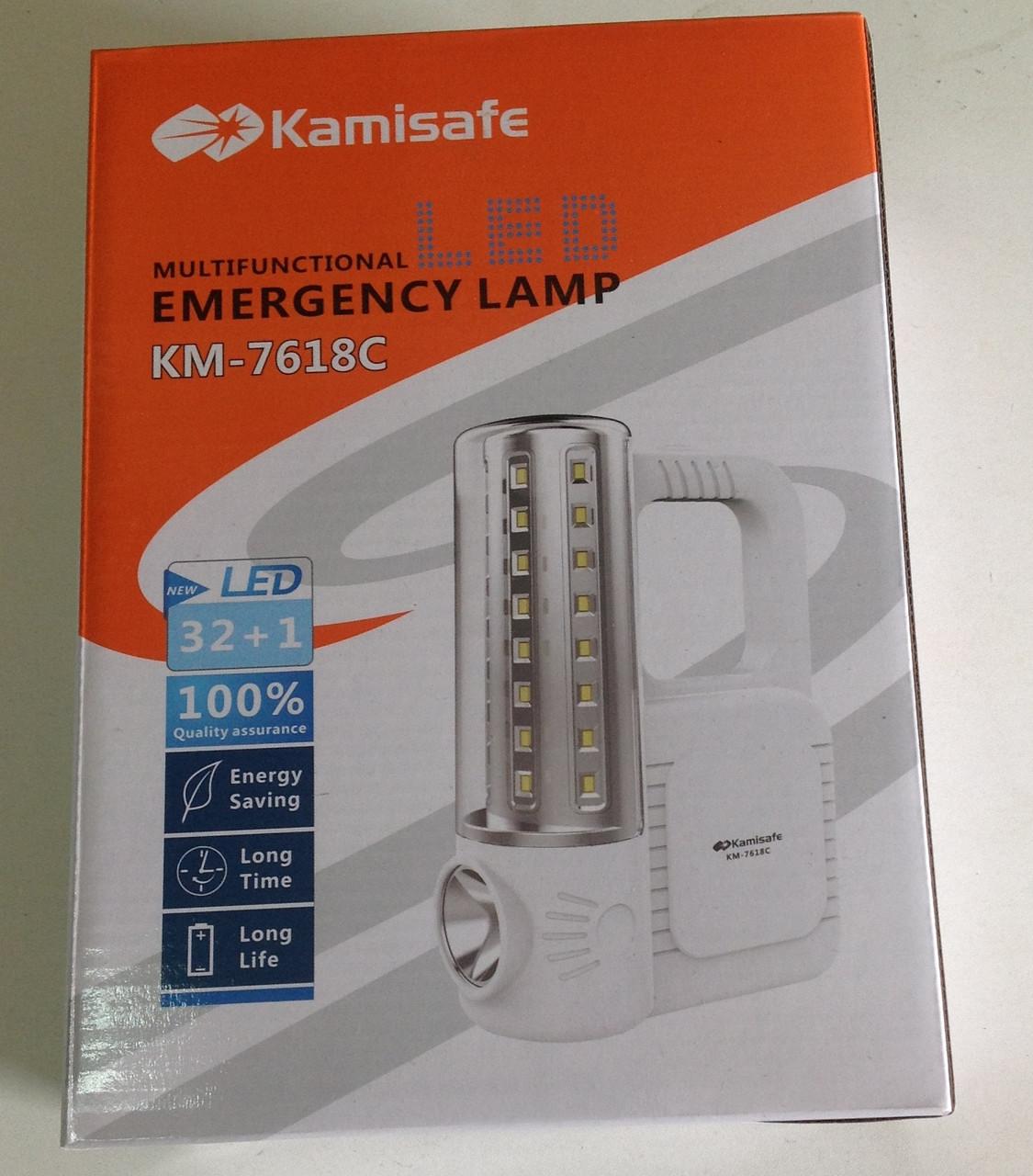 Фонарь лампа Kamisafe-7618  светодиодная аккумуляторная