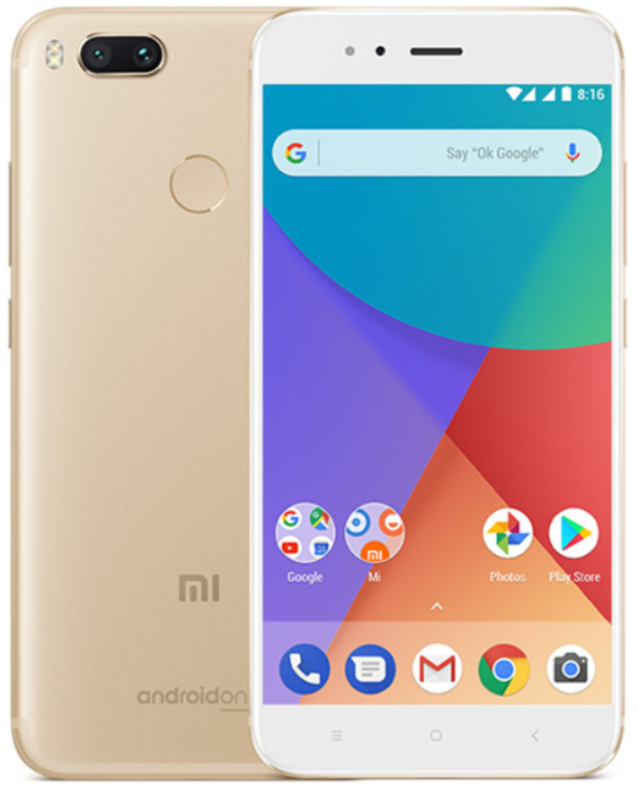 """Смартфон Xiaomi Mi A1 Gold 4/32 Gb, 5.5"""", Snapdragon 625, 3G, 4G"""
