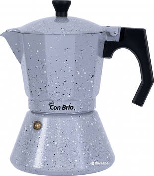 Гейзерная кофеварка Con Brio СВ-6706, ИНДУКЦИЯ 6 чашек 300мл
