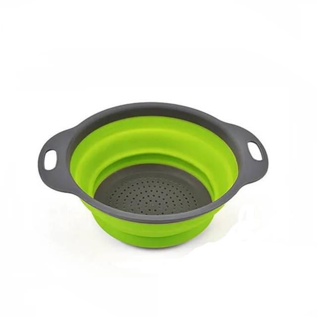 Дуршлаг складной силиконовый для овощей и фруктов Kitchen Craft 092