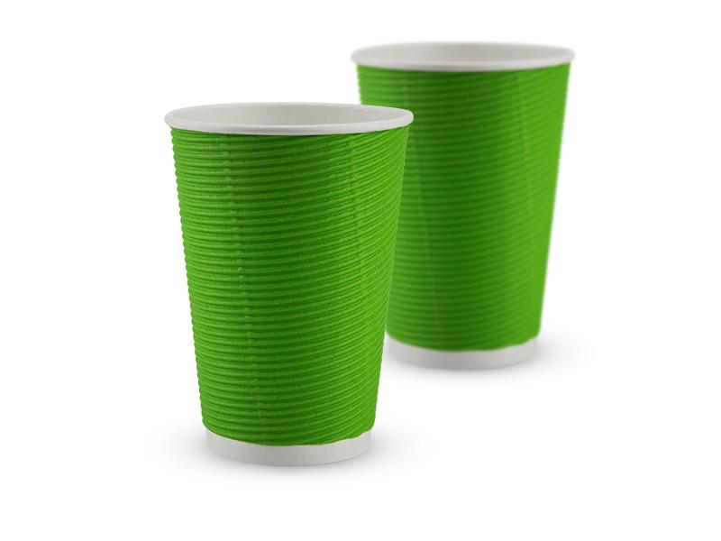 Гофростакан паперовий 340 мл, зелений, 25 шт/рук., 875 шт/ящ.