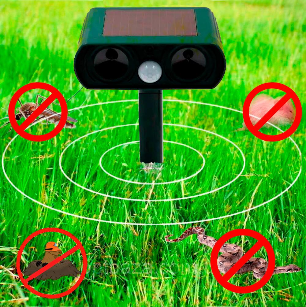 Ультразвуковой отпугиватель для кротов и грызунов Solar Pest Reppeler Крот HC-9 (прямоугольная голова) (GK)