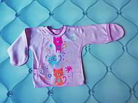 Распашонка нецарапка Котята, р. 56 (для новорожденных), фото 1
