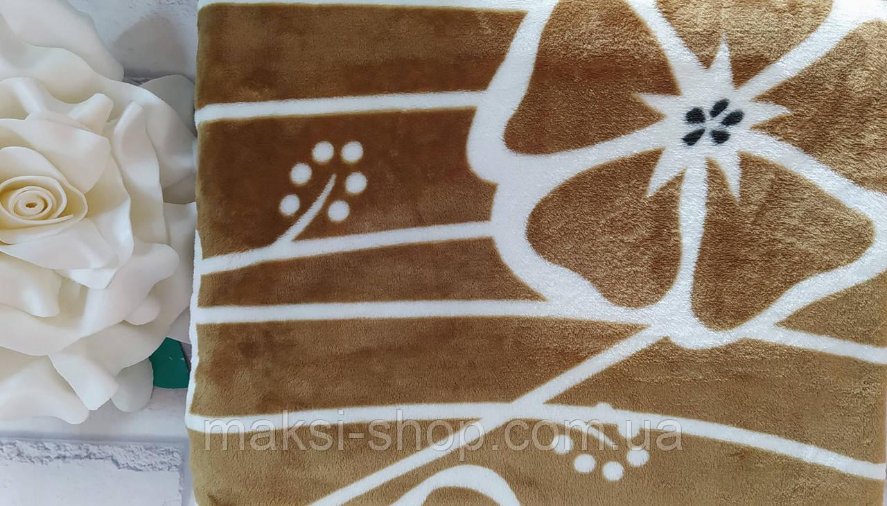 Мягкий плед покрывало микрофибра в подарочной упаковке полуторный размер 145х205 см