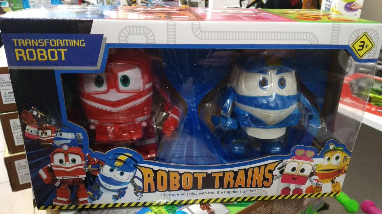 Игровой набор Роботы Поезда Robot Trains Трансформеры Альф и  Кей