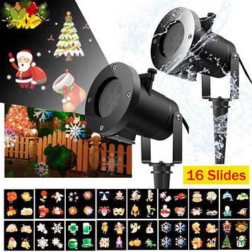 Лазерный проектор Christmas Laser Projector 16 картриджей слайдов лазерная подсветка для дома