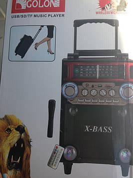 Мобильная акустическая система Golon RX-2088 с аккумулятором, блютуз микрофон, mp3