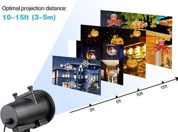 Лазерный проектор Star Shower projection outdoor light halloween YU120лазерная подсветка дома