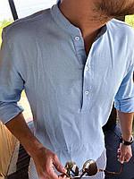 Мужская льняная рубашка M