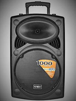 Колонка аккумуляторная UKC BT15A USB, Bluetooth, 2 микрофона