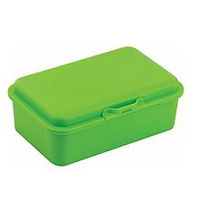 Набір ланч-бокс (контейнер для їжі) ECONOMIX SNACK 750 мл, зелений + серія наліпок ФУТБОЛ