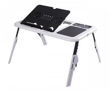 Столик для ноутбука E-Table LD-09 Портативный складной с 2 USB кулерами