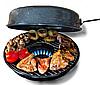 Сковорода Гриль-Газ 33 см с эмалированным покрытием Benson BN-801 с крышкой, фото 2