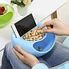 Миска-подставка для телефона и для семечек, орехов, различных снэков голубая, фото 4