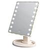 Настольное зеркало для макияжа с LED подсветкой 22 светодиода белое, фото 2