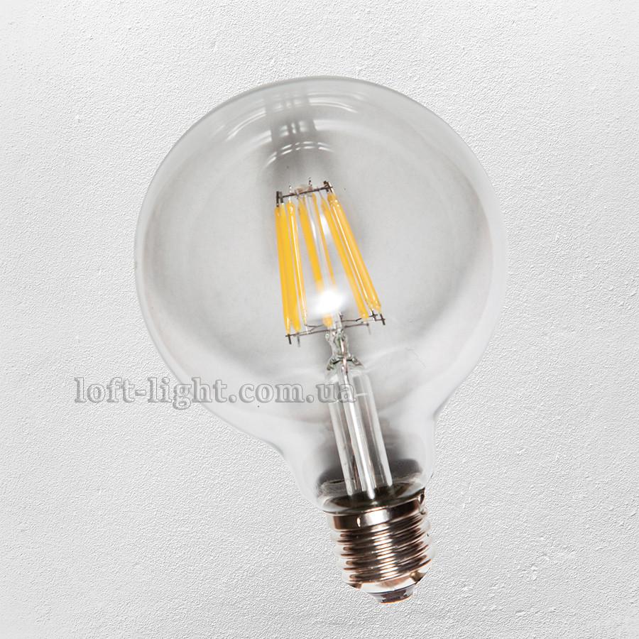 COW лампа led G125 / 6W clear 2700K  (IC)