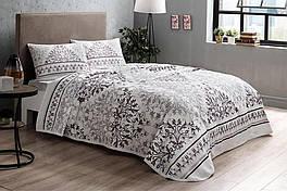 Комплект постельного белья с пике Tac Valencia V03 mor полуторный фиолетовый (TAC60227233)