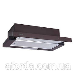 Витяжка Ventolux GARDA 60 BR (700) SLIM Телескопічна Коричнева