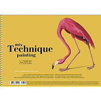 """Альбом для малювання на пружині 20арк. A4 """"Mix Technique"""" Muse PB-SC-020-309/Школярик, фото 1"""