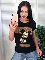 Жіноча футболка LV, S/M/L/XL, колір чорний